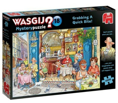 WASGIJ Mystery 18 Grabbing a Quick Bite!- palapeli