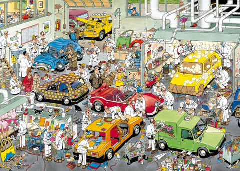 Jan van Haasteren, Car respraying shop- palapeli, 500palaa