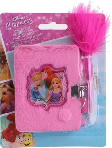 Disney Prinsessa päiväkirja lukolla+kynä