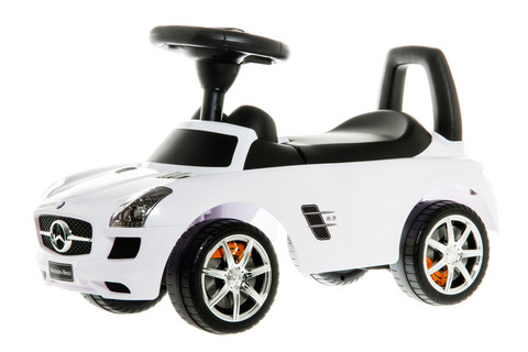 Mercedes Benz- potkuauto, valkoinen