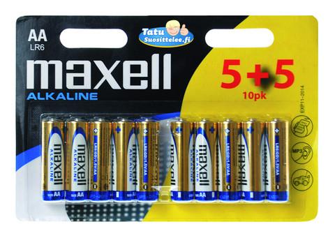 Maxell AA alkaline paristo 10kpl