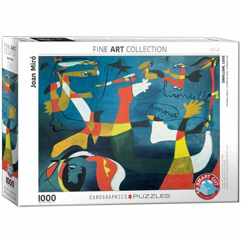 Eurographics Swallow Love by Joan Miro-palapeli