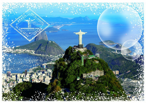 Grafika Travel around the World-Brazil-palapeli
