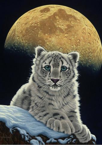 Grafika Schim Schimmel Moon Leopard-palapeli