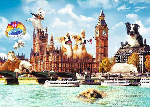 Trefl Dogs in London-palapeli