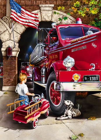 Master Pieces Firehouse Dreams palapeli