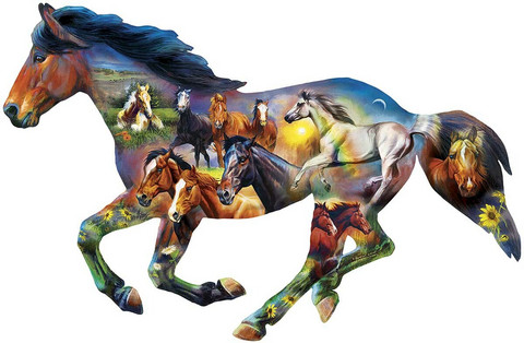 Master Pieces Wild Horse palapeli
