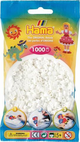 Hama pussi 1000 valkoinen