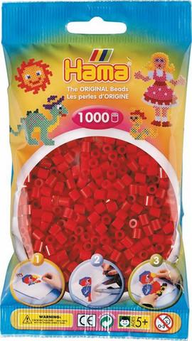 Hama pussi 1000 tumma punainen