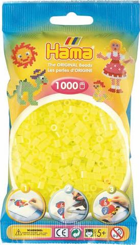 Hama pussi 1000 keltainen neon