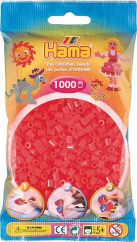 Hama pussi 1000 punainen neon