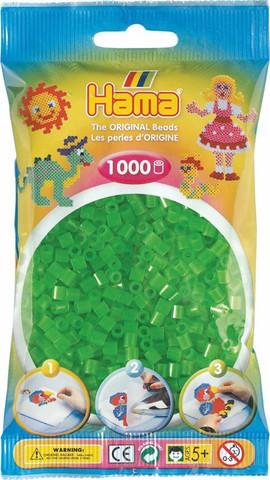 Hama pussi 1000 vihreä neon