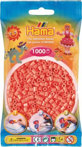 Hama pussi 1000 pastellin punainen