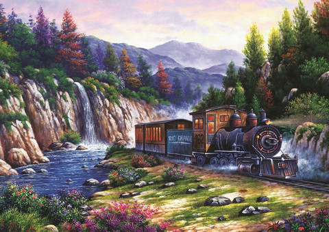 Art Puzzle Travelling by Train palapeli