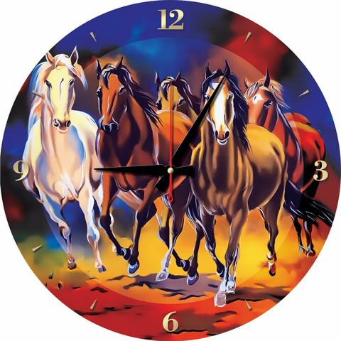 Art Puzzle Palapeli-kello Horses