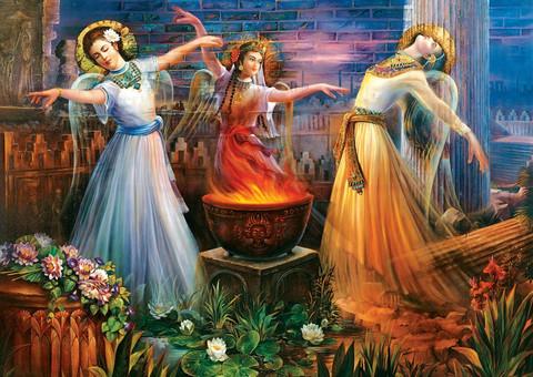 Art Puzzle Fire Dance palapeli