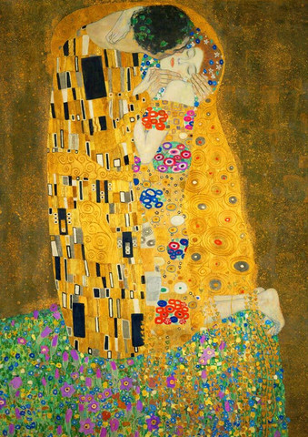 Bluebird Gustave Klimt-The Kiss 1908 palapeli