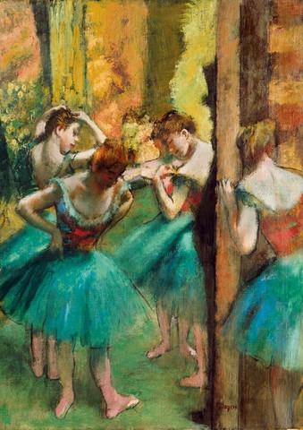 Bluebird Degas-Dancers,Pink and Green