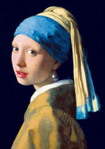 Bluebird Vermeer-Girl with a Pearl Earring palapeli