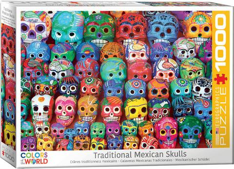 Eurographics Traditional Mexican Skulls palapeli