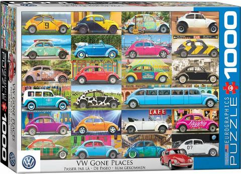 Eurographics VW Beetle-Gone Places palapeli