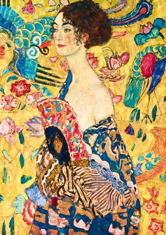Bluebird Gustav Klimt Lady with Fan palapeli