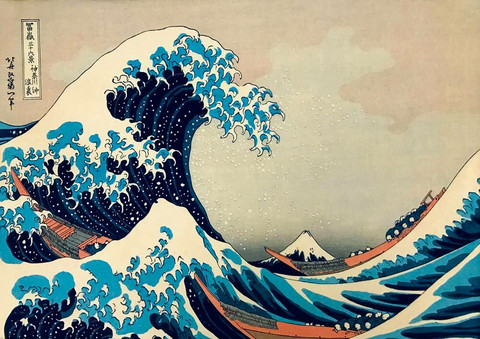 Bluebird Katsushika Hokusai The Great Wave off Kanagawa palapeli