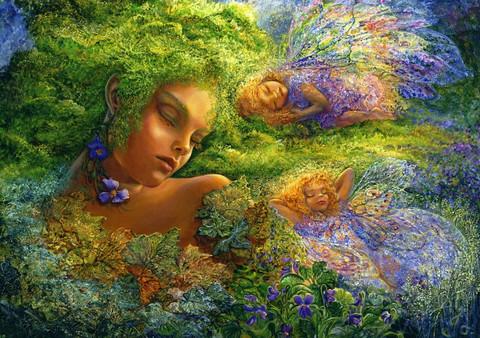 Grafika Josephine Wall - Moss Maiden palapeli