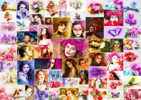 Grafika Collage - Women palapeli