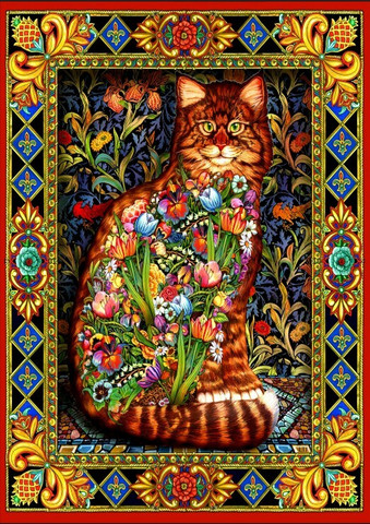 Bluebird Tapestry Cat palapeli
