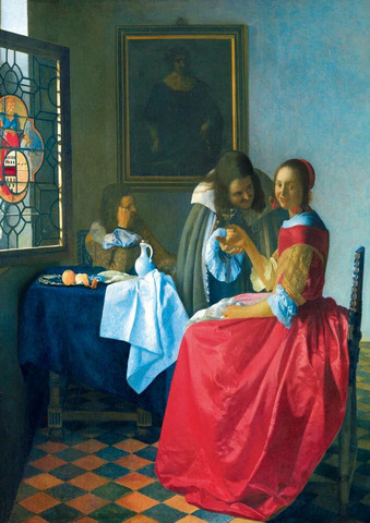 Bluebird Johannes Vermeer-The Girl with the Wine Glass palapeli