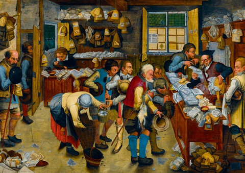 Bluebird P.Bruegel the Younger The Tax-collector´s Office palapeli