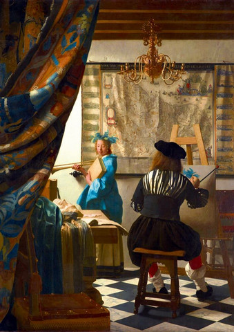 Bluebird Johannes Vermeer Art of Painting palapeli