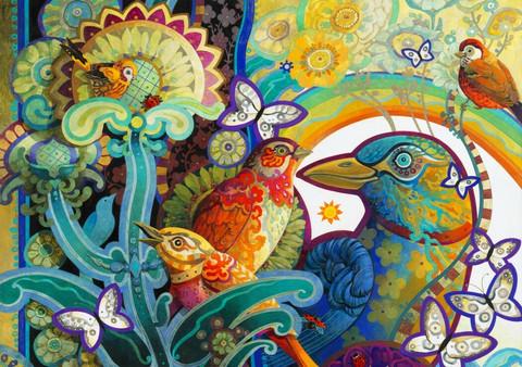 Bluebird David Galchutt-Basket of Paradise palapeli
