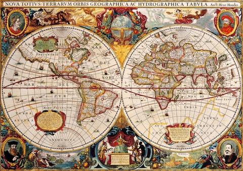 Bluebird Antique World Map palapeli