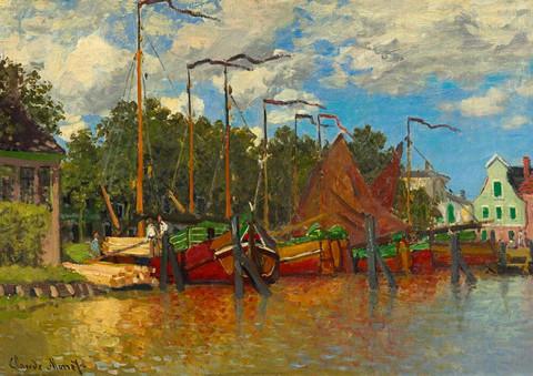 Bluebird Claude Monet Boats at Zaandam palapeli
