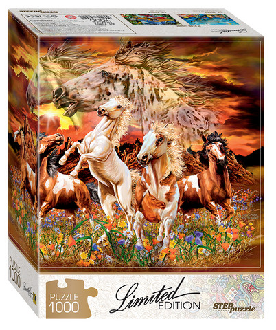 Step Puzzle  Limited edition Find 12 Horses palapeli