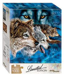 Step Puzzle Limited edition Find 12 Wolves palapeli