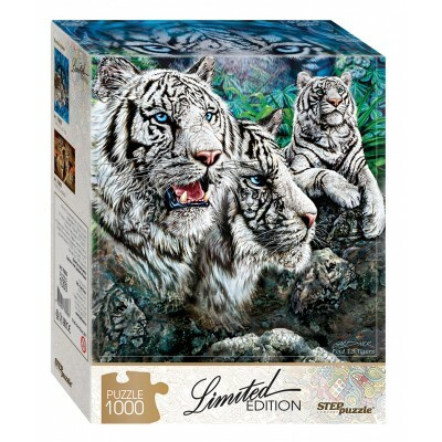 Step Puzzle  Limited edititon Find 13 Tigers palapeli