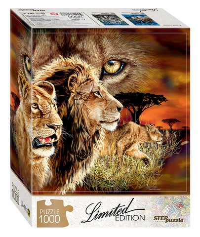 Step Puzzle Limited edition Find 10 Lions palapeli