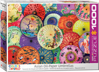 Eurographics asian oil-Paper Umbrellas palapeli
