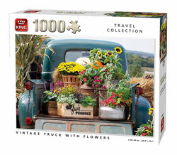 King Vintage Truck With Flowers palapeli