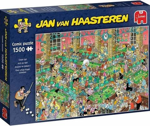 Jan Van Haasteren Biljardisali-Chalk Up palapeli