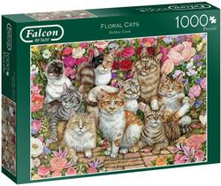 Falcon Debbie Cook Floral Cats palapeli