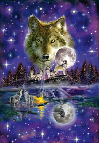 Schmidt Wolf in the Moonlight palapeli