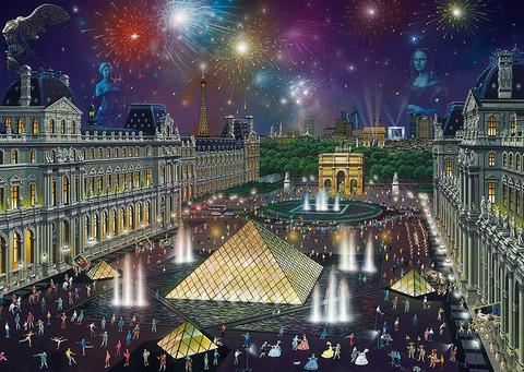 Schmidt Alexander Chen Fireworks of the Louvre palapeli