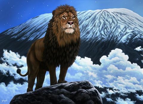 Grafika Schim Schimmel King of Kilimanjaro palapeli