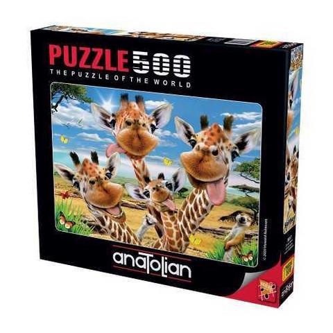 Anatolian Giraffes' Selfie palapeli 500 palaa