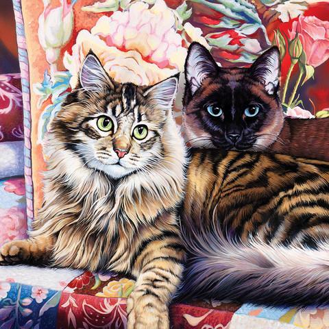 Master Pieces Cat Ology Raja and Mulan palapeli 1000 palaa