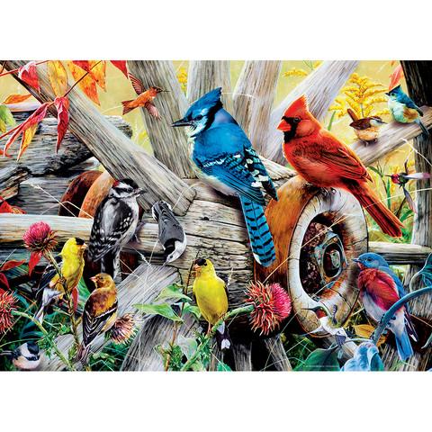 Master Pieces Backyard Birds palapeli 1000 palaa